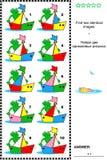 Beeldriddle - vind twee identieke beelden van boten vector illustratie
