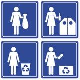 Beeldschriftteken - recycleer Stock Foto's