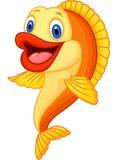 Beeldverhaal aanbiddelijke goudvis Stock Afbeeldingen