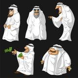 Beeldverhaal Arabische Sjeiks Royalty-vrije Stock Fotografie