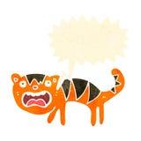 beeldverhaal bang gemaakte tijger Stock Afbeelding