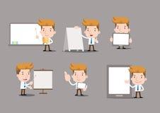 Beeldverhaal bedrijfskarakters - leeg voorwerp stock illustratie