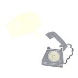 beeldverhaal bellende telefoon met toespraakbel Royalty-vrije Stock Foto's
