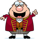 Beeldverhaal Ben Franklin Idea royalty-vrije illustratie