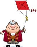 Beeldverhaal Ben Franklin Kite Royalty-vrije Stock Afbeelding