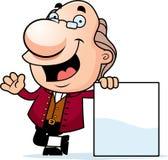 Beeldverhaal Ben Franklin Sign Royalty-vrije Stock Afbeelding