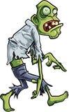 Beeldverhaal besluipende zombie met grote ogen Stock Foto