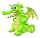 Beeldverhaal Bevindende Draak Stock Afbeeldingen