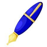 Beeldverhaal blauwe pen. eps10 Royalty-vrije Stock Foto's