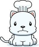 Beeldverhaal Boze Chef-kok Kitten stock illustratie