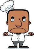 Beeldverhaal Boze Chef-kok Man Stock Afbeeldingen