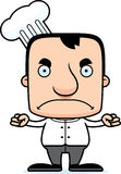 Beeldverhaal Boze Chef-kok Man Stock Afbeelding