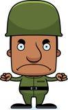 Beeldverhaal Boze Militair Man Stock Afbeelding