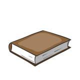 Beeldverhaal bruin boek stock illustratie