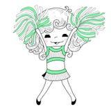 Beeldverhaal cheerleader stock illustratie