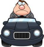Beeldverhaal Chef- Driving Angry royalty-vrije illustratie
