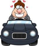 Beeldverhaal Chef- Driving Love vector illustratie