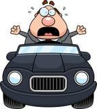 Beeldverhaal Chef- Driving Panic royalty-vrije illustratie