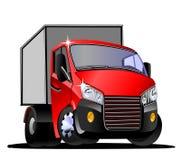 Beeldverhaal commerciële vrachtwagen op witte achtergrond royalty-vrije stock afbeelding