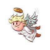 Beeldverhaal die leuke engel vliegen Royalty-vrije Stock Foto
