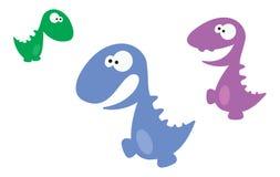 Beeldverhaal Dino Royalty-vrije Stock Foto