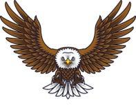 Beeldverhaal Eagle Mascot royalty-vrije illustratie