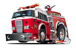Beeldverhaal firetruck Stock Foto