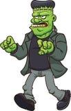 Beeldverhaal Frankenstein stock illustratie
