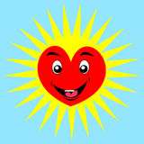 Beeldverhaal gelukkig hart stock illustratie