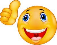 Beeldverhaal Gelukkig Smiley Emoticon Face Royalty-vrije Stock Afbeelding