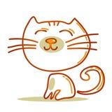 beeldverhaal gelukkige kat Stock Foto