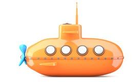Beeldverhaal-gestileerde onderzeeër Royalty-vrije Stock Afbeeldingen
