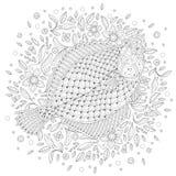 Beeldverhaal Gestileerde Scholvissen vector illustratie