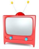 Beeldverhaal gestileerde TV Royalty-vrije Stock Afbeeldingen