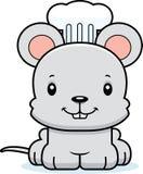Beeldverhaal Glimlachende Chef-kok Mouse stock illustratie