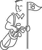 Beeldverhaal Golfer/ai vector illustratie