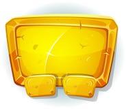 Beeldverhaal Gouden Teken voor Ui-Spel Royalty-vrije Stock Afbeeldingen
