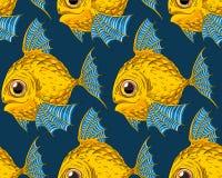 Beeldverhaal Gouden Vissen Royalty-vrije Stock Fotografie