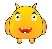 Beeldverhaal Grappig Geel Monster Royalty-vrije Stock Afbeeldingen