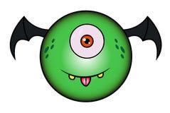 Beeldverhaal Grappig Groen Monster Royalty-vrije Stock Foto's