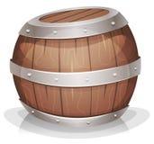 Beeldverhaal-grappig-houten-vat Stock Afbeeldingen