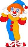 Beeldverhaal grappige clown stock illustratie