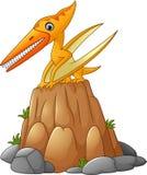 Beeldverhaal grappige pterodactylus stock illustratie