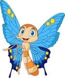 beeldverhaal grappige vlinder royalty-vrije illustratie