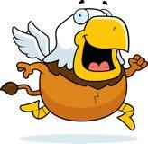 Beeldverhaal Griffin Running stock foto's