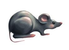 Beeldverhaal grijze muis Royalty-vrije Stock Afbeeldingen