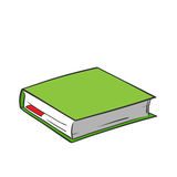 Beeldverhaal groen boek royalty-vrije illustratie