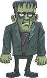Beeldverhaal groene Frankenstein stock illustratie