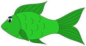 Beeldverhaal groene vissen clipart royalty-vrije illustratie