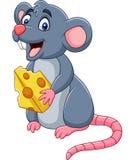 Beeldverhaal het gelukkige muis golven royalty-vrije illustratie